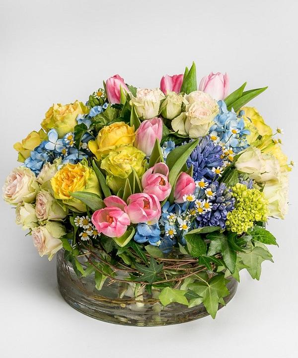 Fresh Flower Easter Basket