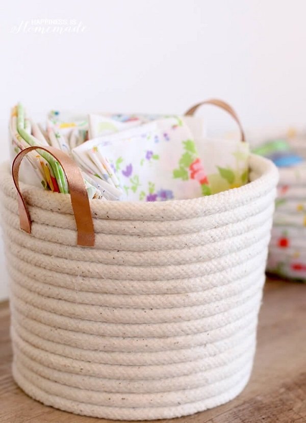 No-sew Rope Easter Basket