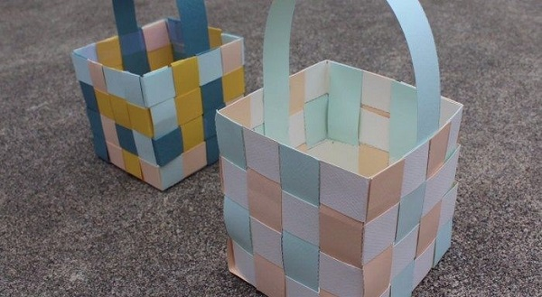 Woven Paper Easter Basket