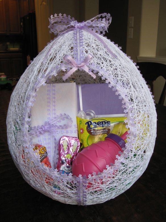 Yarn-Wrapped Easter Basket